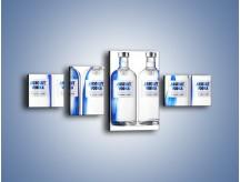 Obraz na płótnie – Czysta wódka w butelkach – czteroczęściowy JN748W5