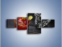Obraz na płótnie – Czerwony drink z selerem – czteroczęściowy JN751W5