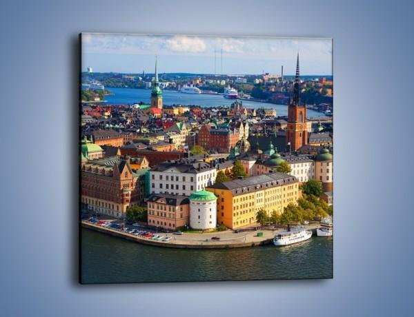Obraz na płótnie – Urokliwe miasteczko nad wodą – jednoczęściowy kwadratowy AM160