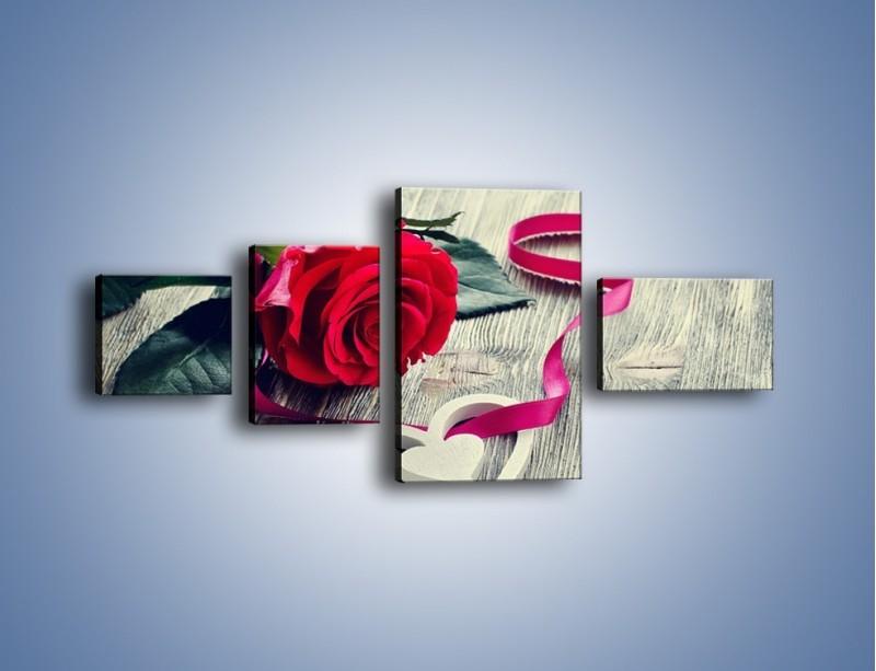 Obraz na płótnie – Od serca aż po różę – czteroczęściowy K1013W5