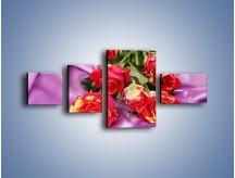 Obraz na płótnie – Błogi odpoczynek z różą – czteroczęściowy K251W5