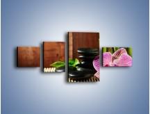 Obraz na płótnie – Bambus storczyk i kamienie – czteroczęściowy K279W5