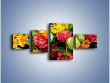 Obraz na płótnie – Bukiet pełen soczystych kolorów – czteroczęściowy K461W5