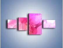 Obraz na płótnie – Budzący dzień w różowym kwiecie – czteroczęściowy K487W5
