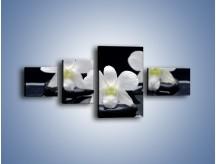 Obraz na płótnie – Biel w kwiecie nocą – czteroczęściowy K512W5