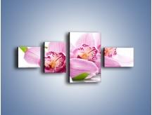 Obraz na płótnie – Biały kwiatowy stół – czteroczęściowy K688W5