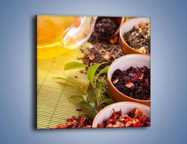 Obraz na płótnie – Aromatyczne przyprawy do herbaty – jednoczęściowy kwadratowy JN492