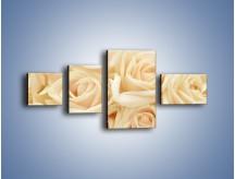 Obraz na płótnie – Bukiet herbacianych róż – czteroczęściowy K710W5