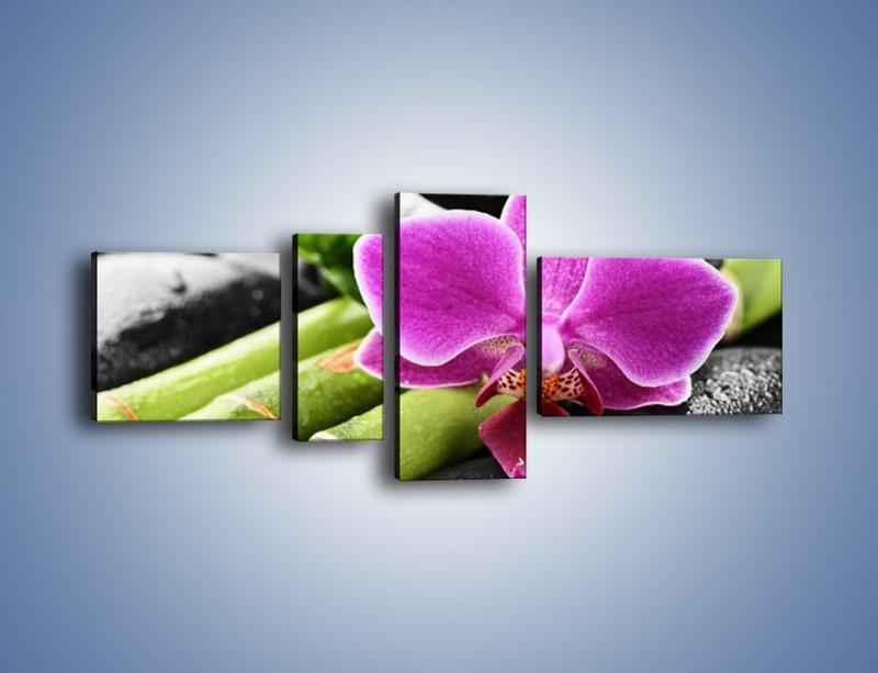 Obraz na płótnie – Idealnie ułożony kwiat – czteroczęściowy K931W5