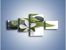 Obraz na płótnie – Artystyczna kompozycja z kwiatem – czteroczęściowy K968W5
