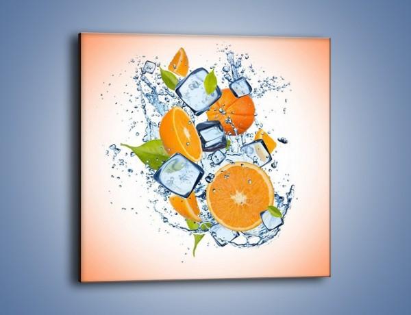Obraz na płótnie – Pomarańczowe trio w powietrzu – jednoczęściowy kwadratowy JN499