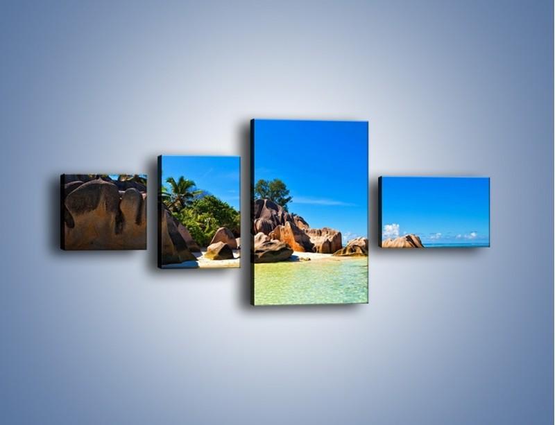 Obraz na płótnie – Bezludna wyspa i ja – czteroczęściowy KN1058W5