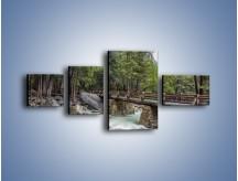 Obraz na płótnie – Bezpieczne przejście na druga stronę – czteroczęściowy KN1060W5