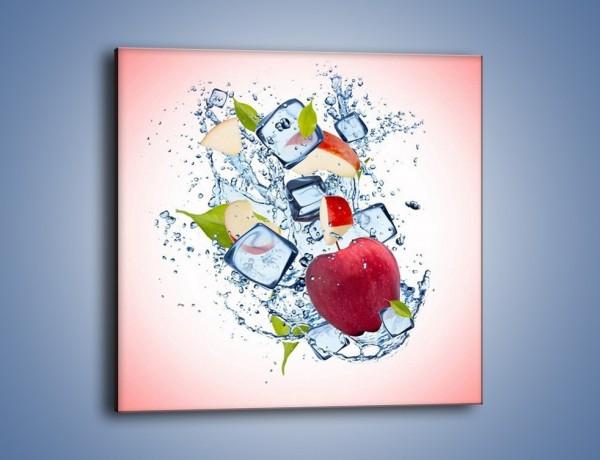 Obraz na płótnie – Jabłkowe trio w powietrzu – jednoczęściowy kwadratowy JN500