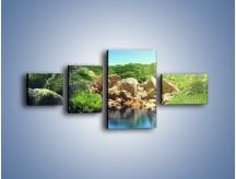 Obraz na płótnie – Bogata roślinność nad wodą – czteroczęściowy KN1082AW5