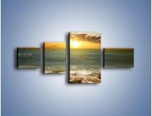 Obraz na płótnie – Brzegiem w stronę morza – czteroczęściowy KN1092AW5