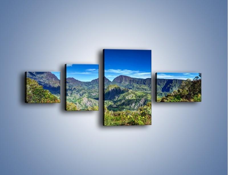 Obraz na płótnie – Zieleń ukryta wysoko w górach – czteroczęściowy KN1106W5