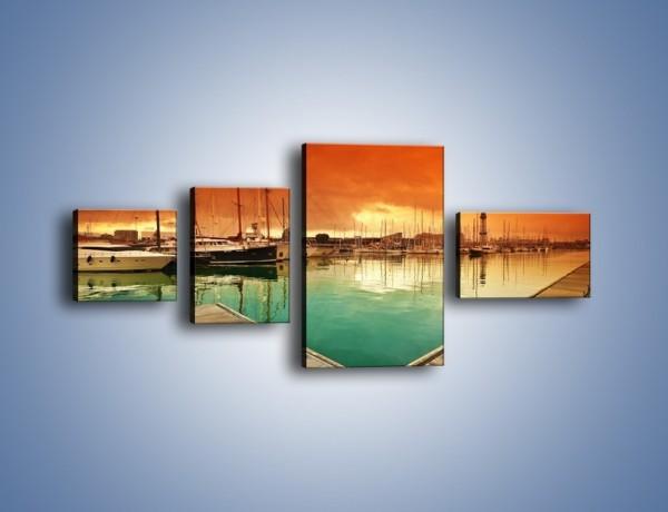 Obraz na płótnie – Jachty na wodzie – czteroczęściowy KN1127AW5
