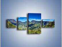 Obraz na płótnie – Cały góry pokryte zielenią – czteroczęściowy KN1140AW5