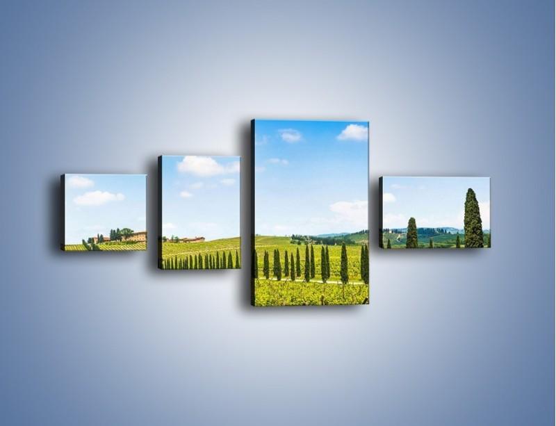 Obraz na płótnie – Wszyscy stoją w jednym szeregu – czteroczęściowy KN1156AW5
