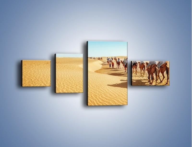 Obraz na płótnie – Szła karawana przez pustynię – czteroczęściowy KN1173AW5