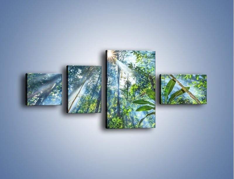 Obraz na płótnie – Dyzio marzyciel i drzewa – czteroczęściowy KN1189AW5