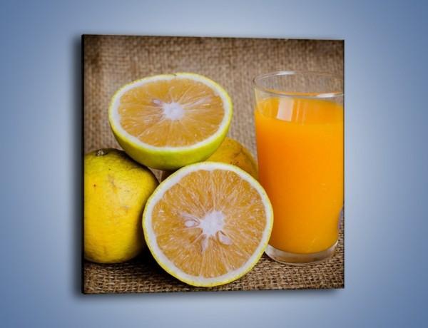 Obraz na płótnie – Świeża szklanka soku – jednoczęściowy kwadratowy JN504