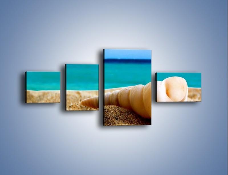 Obraz na płótnie – Czy uda się zobaczyć ślimaka – czteroczęściowy KN1210AW5