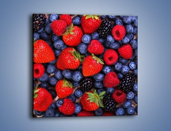 Obraz na płótnie – Owoce leśne na stole – jednoczęściowy kwadratowy JN505
