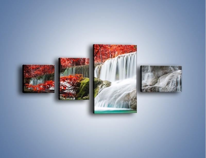 Obraz na płótnie – Zachwycić się naturą – czteroczęściowy KN1250AW5