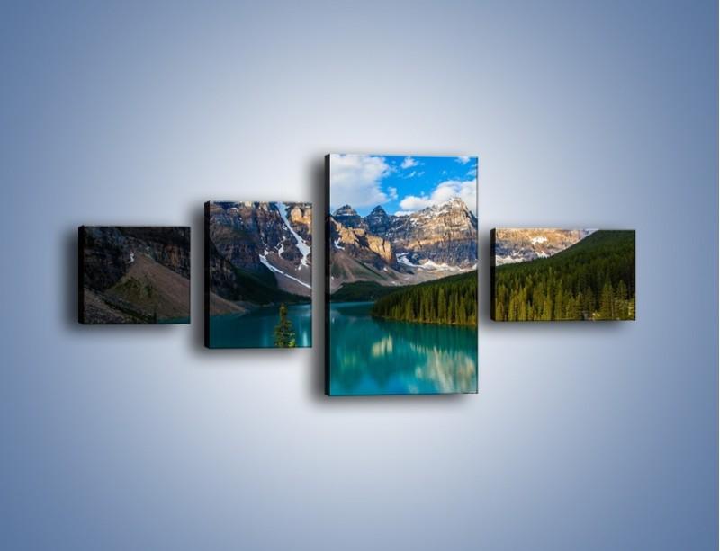 Obraz na płótnie – Spokój w górach – czteroczęściowy KN1258AW5