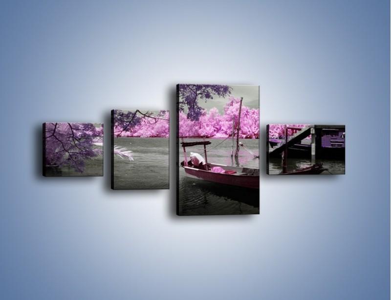 Obraz na płótnie – Krajobraz jak z japonii – czteroczęściowy KN1277AW5