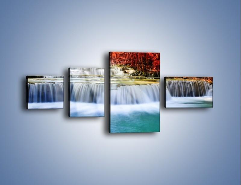 Obraz na płótnie – Jak przyjemnie nad wodą – czteroczęściowy KN1291AW5