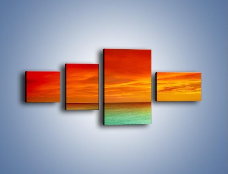 Obraz na płótnie – Horyzont w kolorach tęczy – czteroczęściowy KN1303AW5
