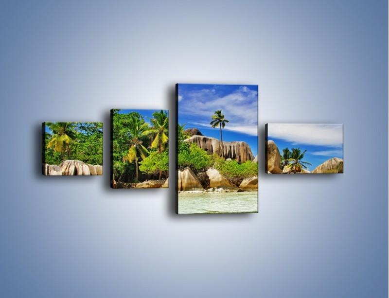Obraz na płótnie – Tropiki i ich wysokości – czteroczęściowy KN1306AW5