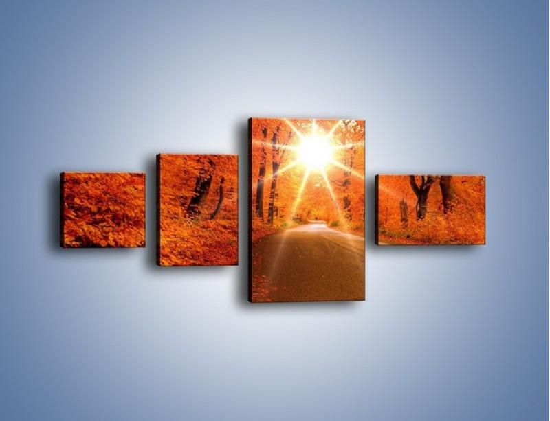 Obraz na płótnie – Droga pełna słońca – czteroczęściowy KN160W5