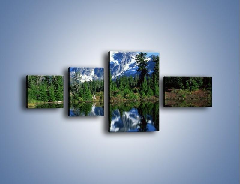 Obraz na płótnie – Zimowe pozostałości w górach – czteroczęściowy KN225W5