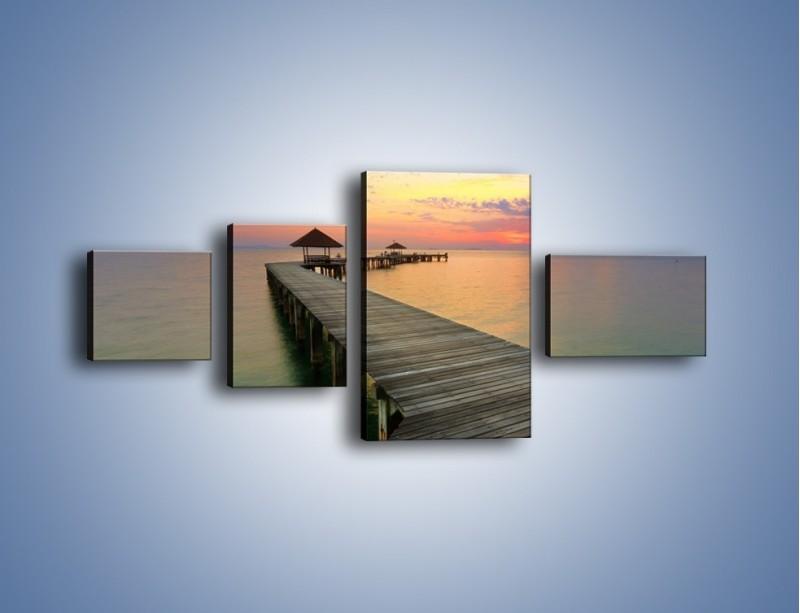 Obraz na płótnie – Krętym pomostem do morza – czteroczęściowy KN327W5