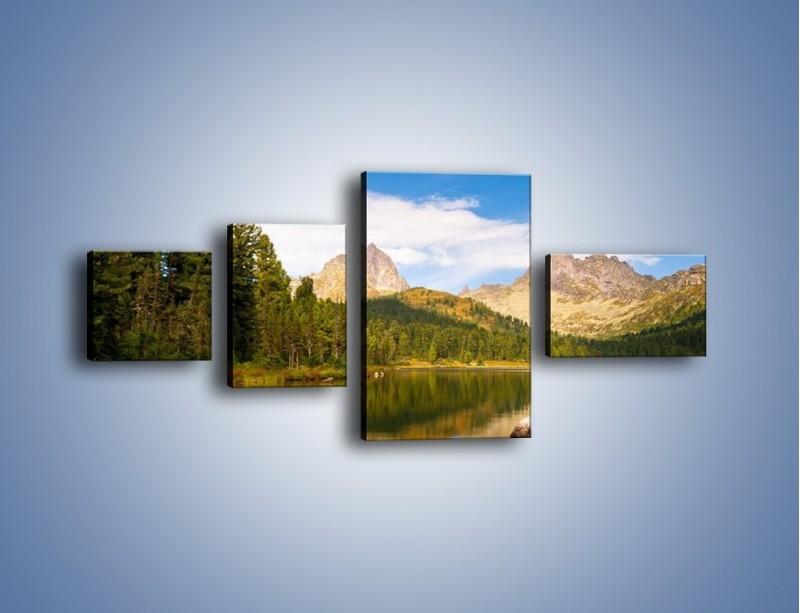 Obraz na płótnie – Widok nie tylko na góry – czteroczęściowy KN401W5