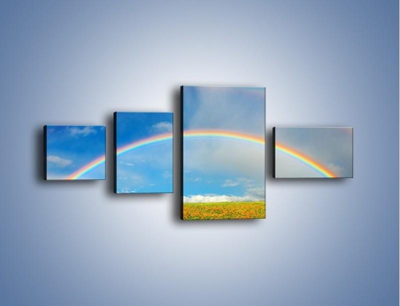 Obraz na płótnie – Urok kolorowej tęczy – czteroczęściowy KN406W5