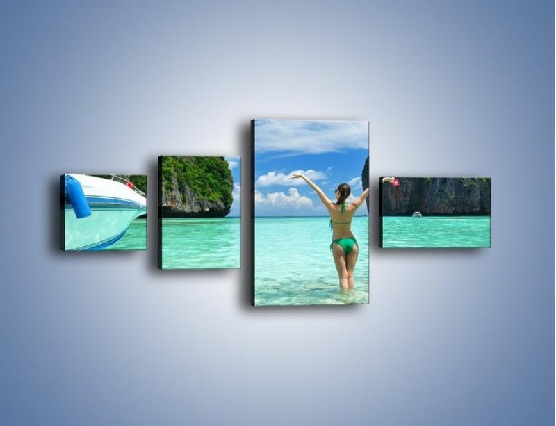 Obraz na płótnie – Udane wakacje w ciepłych krajach – czteroczęściowy KN530W5