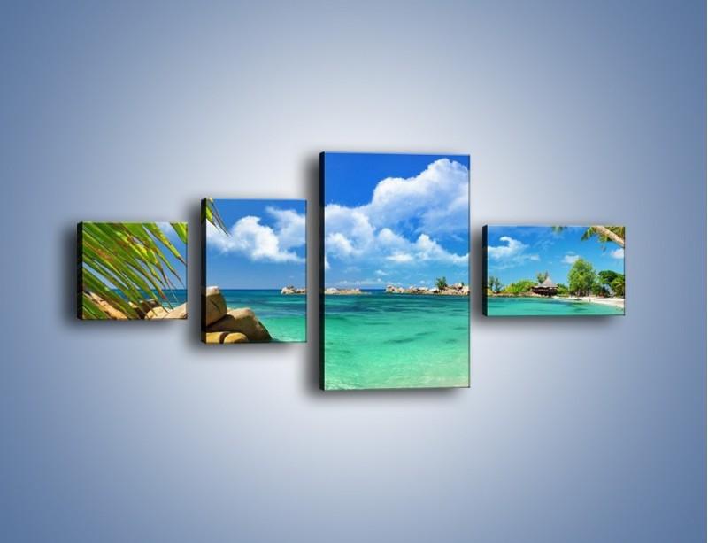 Obraz na płótnie – Tropikalna wyspa z katalogu – czteroczęściowy KN565W5