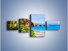 Obraz na płótnie – Brzeg morza jak z bajki – czteroczęściowy KN755W5