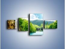 Obraz na płótnie – Cały urok górskich wodospadów – czteroczęściowy KN769W5