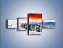 Obraz na płótnie – Cały urok gór zimą – czteroczęściowy KN805W5