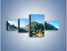 Obraz na płótnie – Chłodny klimat górski – czteroczęściowy KN844W5