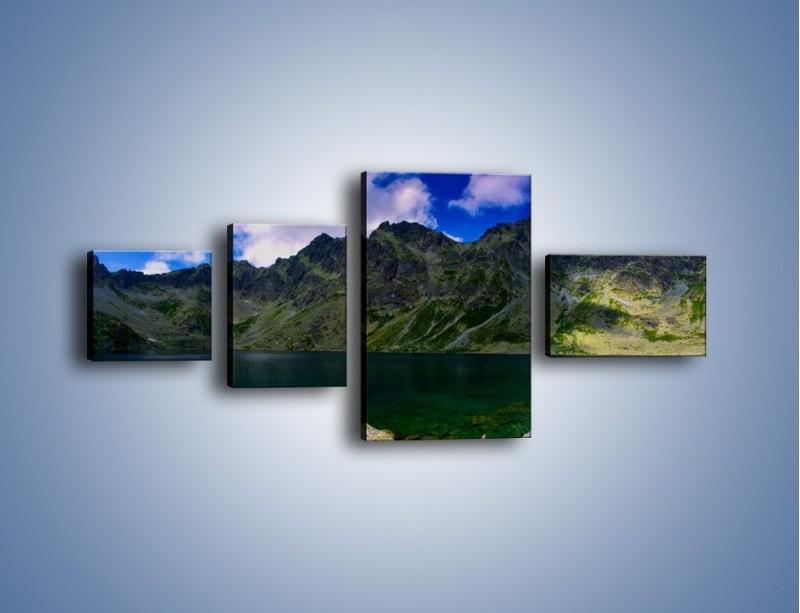 Obraz na płótnie – Horyzont górskich szczytów – czteroczęściowy KN856W5