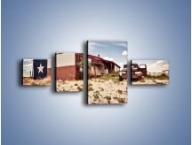 Obraz na płótnie – Autem przez texas – czteroczęściowy KN874W5