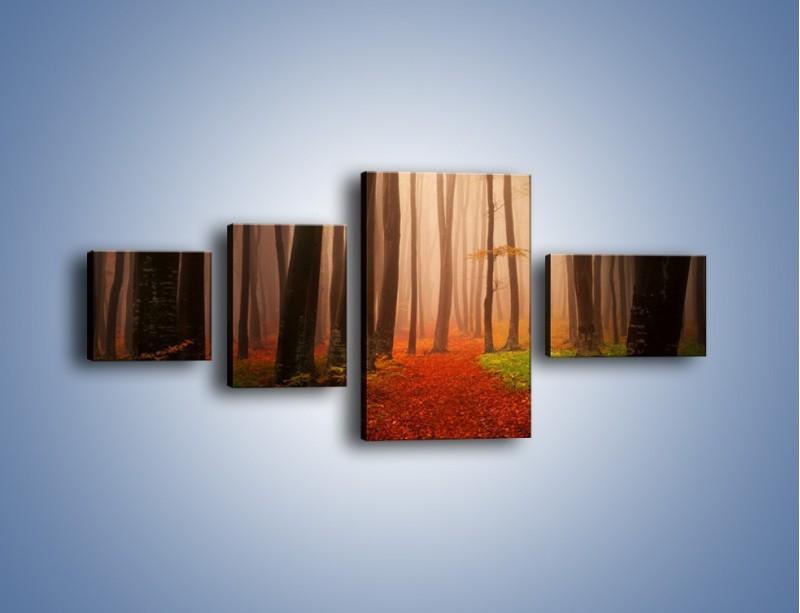 Obraz na płótnie – Las pełen tajemnic – czteroczęściowy KN909W5