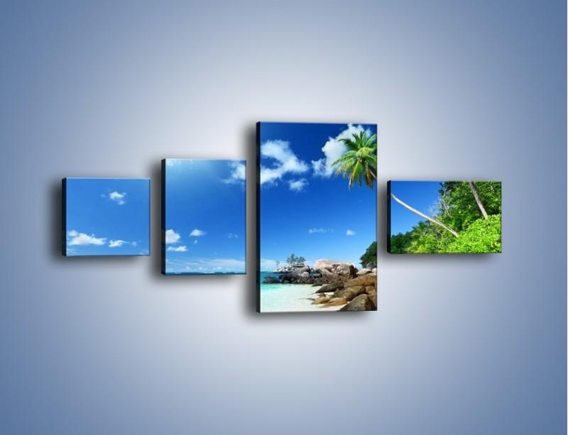 Obraz na płótnie – Rajska plaża i jej piękno – czteroczęściowy KN963W5